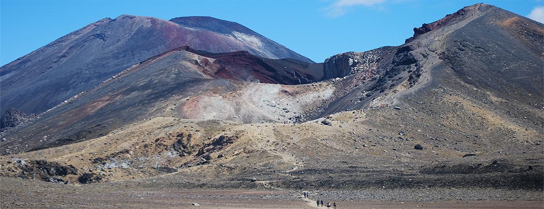 En Parque Nacional Tongariro y alrededores