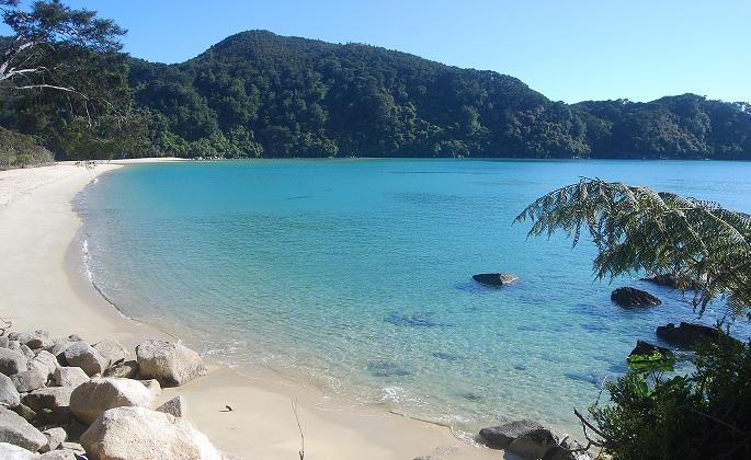 Playa cerca de Bark Bay - Abel Tasman Coastal Track