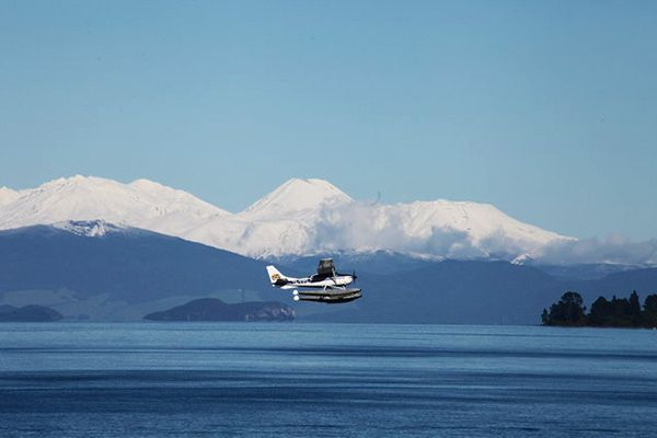 Taupo Floatplane above Lake Taupo