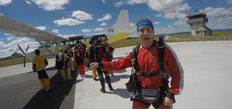 Taupo Skydiving before take off