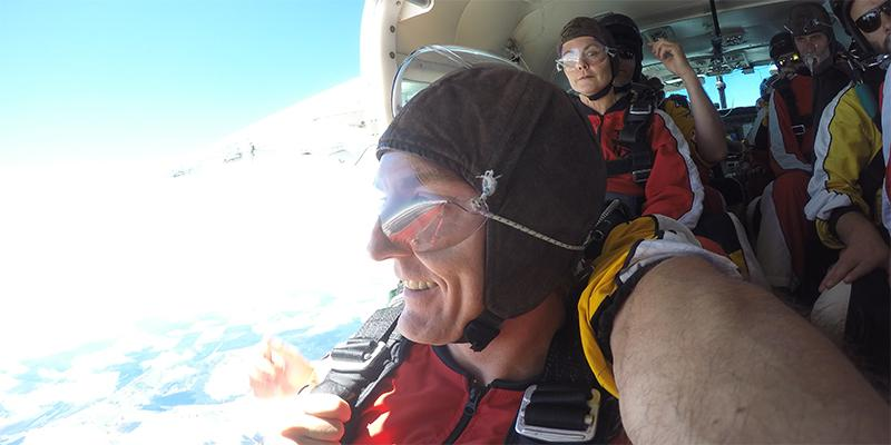 Taupo Skydiving moment of jump