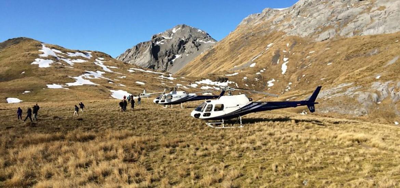 Flüge Nelson Tasman Heli - LOTR Mt. Owen