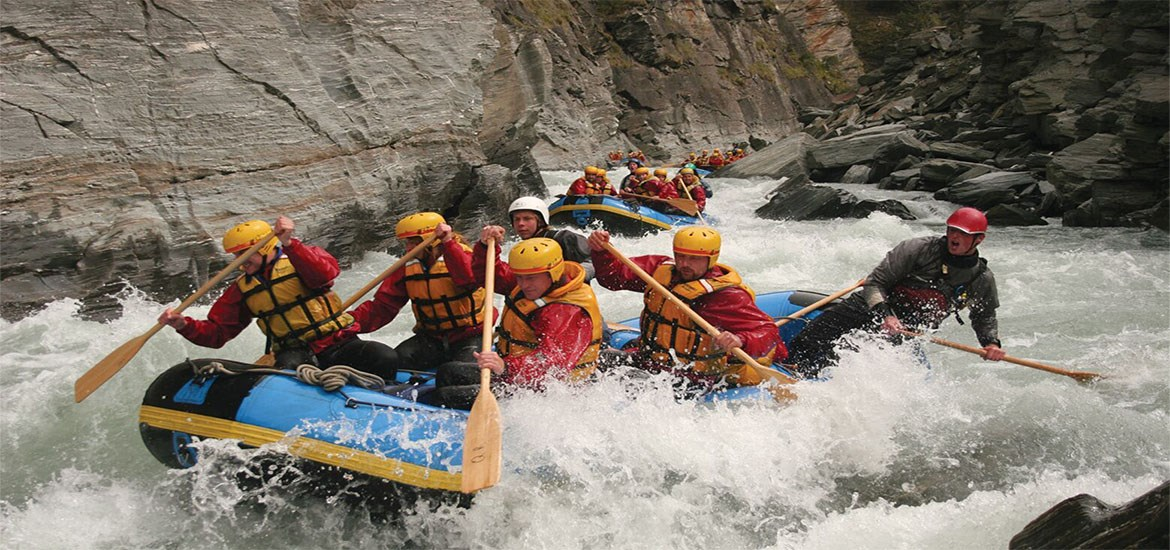 Rafting sul fiume Shotover