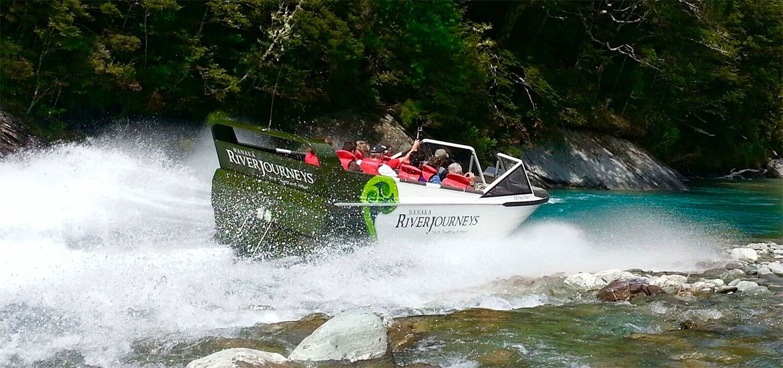 Mt Aspiring NP Jet Boat - Spaziergang - Gletscher Heli Combo