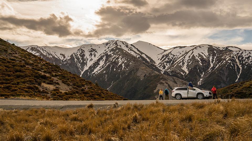 Driving in Mt Hutt area