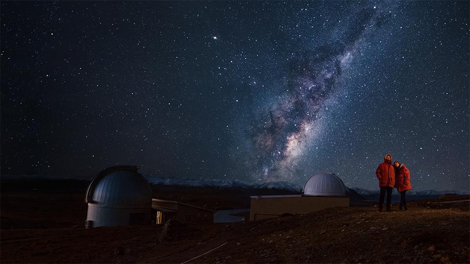 Star gazing at the Lake Tekapo observatory