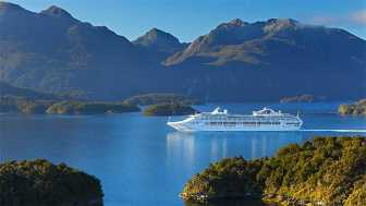 Interislander ferry in the Marlborough Sounds