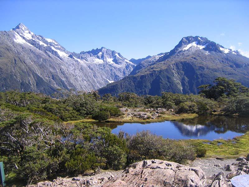 Cumbre clave - Parque nacional de Fiordland