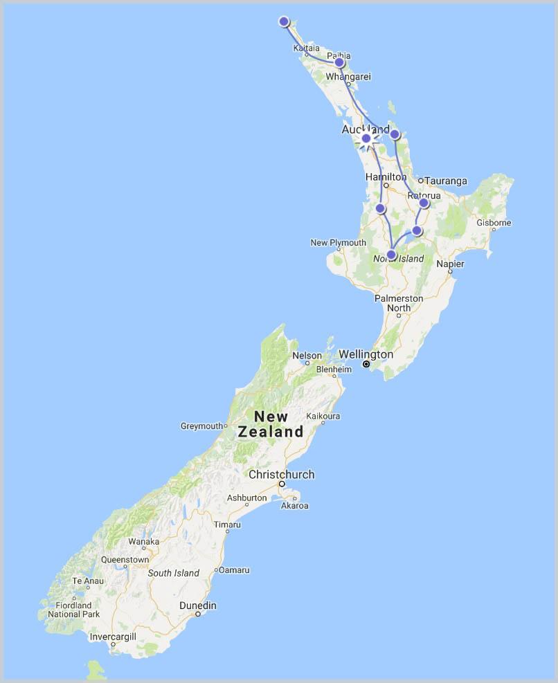 North Island Adventure Tour