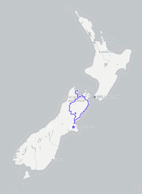 8 Day Top of South Island Self Drive Tour