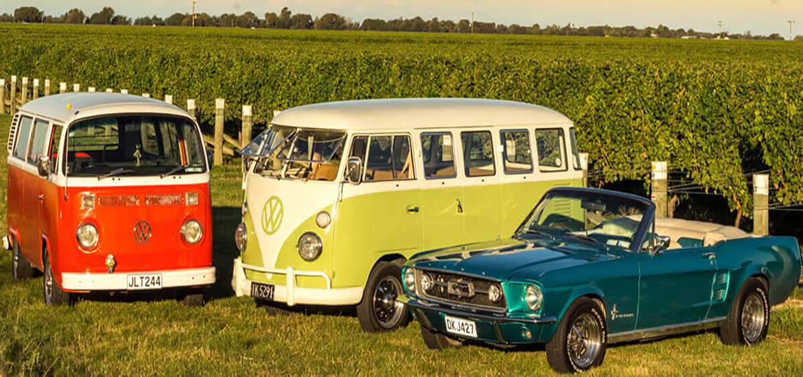 Classic and Luxury Cars Wine Tour